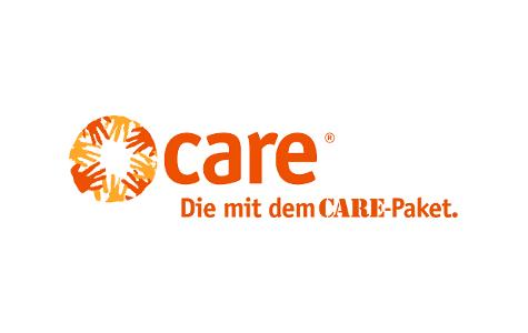 Logo CARE Deutschland-Luxemburg. Die mit dem CARE-Paket.