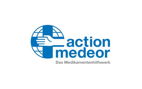 Logo action medeor. Das Medikamentenhilfswerk